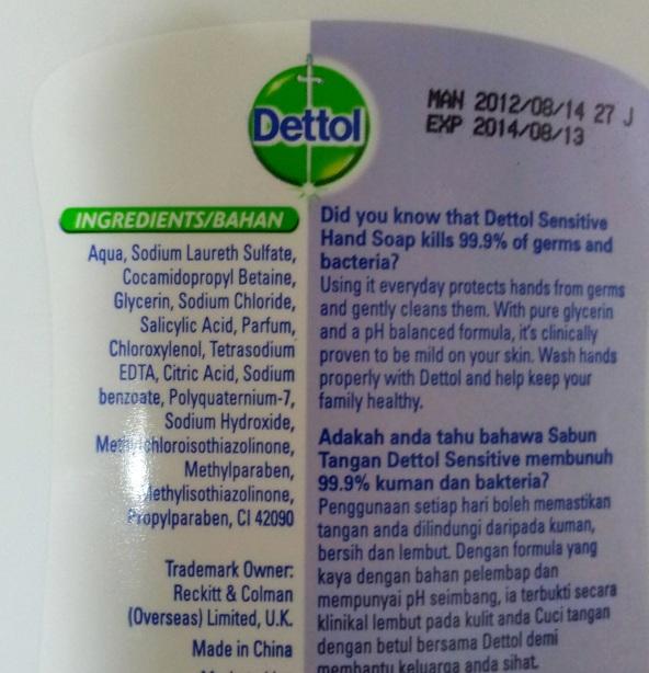 dettol hand wash for sensitive skin
