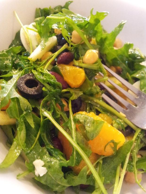 yummy salad at tossz, china square!