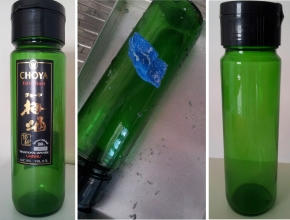 Reused pretty glass bottle as my