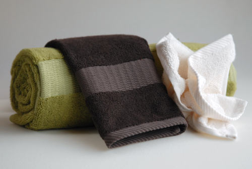 bamboo towels are surprisingly soft!  previously i thought all hype, but when I used my cotton towels i totally felt the difference!  bamboo's way softer and surprisingly heavier at the same time!